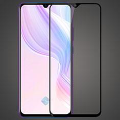 Vivo X50 Lite用強化ガラス フル液晶保護フィルム F03 Vivo ブラック