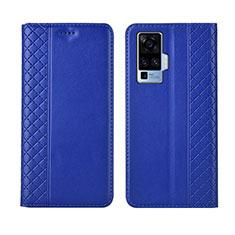 Vivo X50 Pro 5G用手帳型 レザーケース スタンド カバー L02 Vivo ネイビー