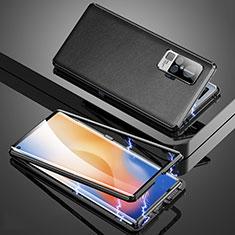 Vivo X50 Pro 5G用ケース 高級感 手触り良い アルミメタル 製の金属製 カバー M04 Vivo ブラック