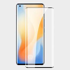 Vivo X50 Pro 5G用強化ガラス フル液晶保護フィルム F02 Vivo ブラック