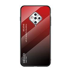 Vivo X50e 5G用ハイブリットバンパーケース プラスチック 鏡面 カバー Vivo レッド