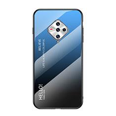 Vivo X50e 5G用ハイブリットバンパーケース プラスチック 鏡面 カバー Vivo ネイビー
