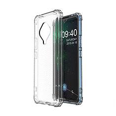 Vivo X50e 5G用極薄ソフトケース シリコンケース 耐衝撃 全面保護 クリア透明 カバー Vivo クリア