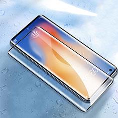 Vivo X51 5G用強化ガラス フル液晶保護フィルム Vivo ブラック