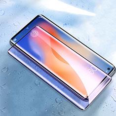 Vivo X51 5G用強化ガラス フル液晶保護フィルム アンチグレア ブルーライト Vivo ブラック
