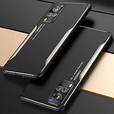 Vivo X60 5G用ケース 高級感 手触り良い アルミメタル 製の金属製 カバー M01 Vivo ゴールド