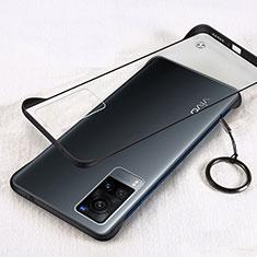 Vivo X60 5G用ハードカバー クリスタル クリア透明 H01 Vivo ブラック