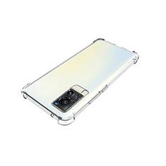 Vivo X60 5G用極薄ソフトケース シリコンケース 耐衝撃 全面保護 クリア透明 カバー Vivo クリア