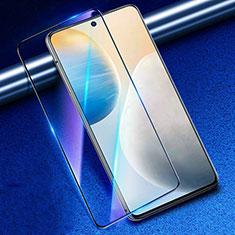 Vivo X60 5G用強化ガラス フル液晶保護フィルム アンチグレア ブルーライト Vivo ブラック