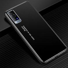 Vivo X60 Pro 5G用ケース 高級感 手触り良い アルミメタル 製の金属製 カバー Vivo ブラック