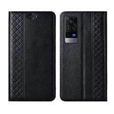 Vivo X60 Pro 5G用手帳型 レザーケース スタンド カバー L02 Vivo ブラック