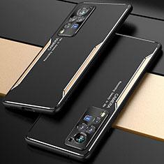 Vivo X60 Pro 5G用ケース 高級感 手触り良い アルミメタル 製の金属製 カバー M01 Vivo ゴールド