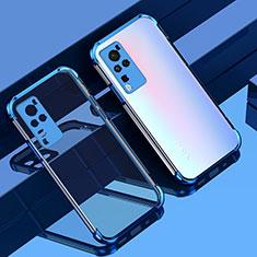Vivo X60 Pro 5G用極薄ソフトケース シリコンケース 耐衝撃 全面保護 クリア透明 H01 Vivo ネイビー