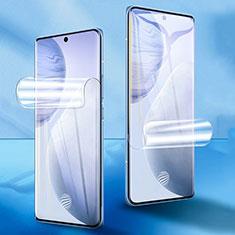 Vivo X60 Pro 5G用高光沢 液晶保護フィルム フルカバレッジ画面 F01 Vivo クリア