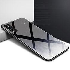 Vivo Y12s用ハイブリットバンパーケース プラスチック 鏡面 カバー Vivo ブラック