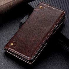 Vivo Y12s用手帳型 レザーケース スタンド カバー L02 Vivo ブラウン