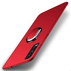 Vivo Y12s用ハードケース プラスチック 質感もマット アンド指輪 マグネット式 A01 Vivo レッド