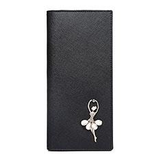 ハンドバッグ ポーチ 財布型ケース レザー 舞姫 ユニバーサル B01 ブラック