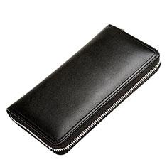ハンドバッグ ポーチ 財布型ケース レザー ユニバーサル H12 ブラック