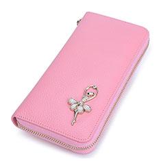 ハンドバッグ ポーチ財布 レザー 舞姫 ユニバーサル ピンク