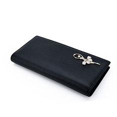 ハンドバッグ ポーチ 財布型ケース レザー 舞姫 ユニバーサル ブラック