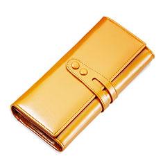 ハンドバッグ ポーチ 財布型ケース レザー ユニバーサル H14 ゴールド