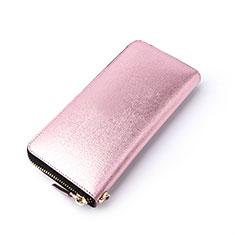 ハンドバッグ ポーチ 財布型ケース レザー ユニバーサル H22 ピンク