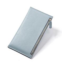 ハンドバッグ ポーチ 財布型ケース レザー ユニバーサル H23 ブルー