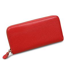Oppo A15用lichee パターンハンドバッグ ポーチ 財布型ケース レザー ユニバーサル H28 ピンク