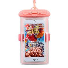 Samsung Galaxy S30 Plus 5G用完全防水ケース ドライバッグ ユニバーサル W11 ピンク