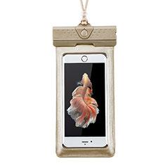 Samsung Galaxy Note 8用完全防水ケース ドライバッグ ユニバーサル W17 ゴールド