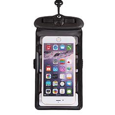 Huawei Rhone用完全防水ケース ドライバッグ ユニバーサル W18 ブラック