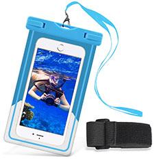 Samsung Galaxy S21 5G用ドライバッグケース 完全防水 ユニバーサル W03 ブルー