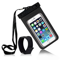 Apple iPhone 6 Plus用完全防水ケース ドライバッグ ユニバーサル W04 ブラック