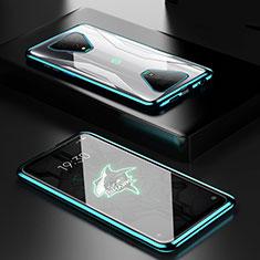 Xiaomi Black Shark 3用ケース 高級感 手触り良い アルミメタル 製の金属製 360度 フルカバーバンパー 鏡面 カバー Xiaomi グリーン