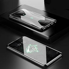 Xiaomi Black Shark 3用ケース 高級感 手触り良い アルミメタル 製の金属製 360度 フルカバーバンパー 鏡面 カバー Xiaomi ブラック