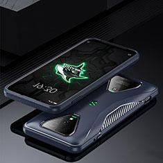 Xiaomi Black Shark 3 Pro用360度 フルカバー極薄ソフトケース シリコンケース 耐衝撃 全面保護 バンパー Xiaomi ネイビー