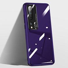 Xiaomi Mi 10用ハードケース プラスチック 質感もマット カバー T01 Xiaomi パープル