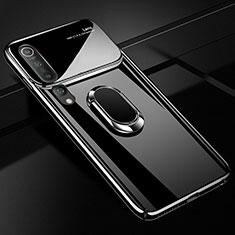 Xiaomi Mi 10用ハードケース プラスチック 質感もマット アンド指輪 マグネット式 P01 Xiaomi ブラック