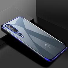 Xiaomi Mi 10用極薄ソフトケース シリコンケース 耐衝撃 全面保護 クリア透明 S2 Xiaomi ネイビー