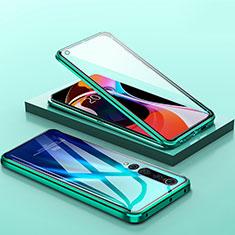 Xiaomi Mi 10用ケース 高級感 手触り良い アルミメタル 製の金属製 360度 フルカバーバンパー 鏡面 カバー M04 Xiaomi グリーン