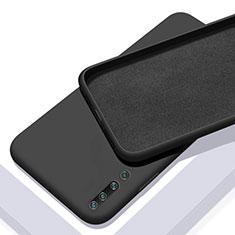 Xiaomi Mi 10用360度 フルカバー極薄ソフトケース シリコンケース 耐衝撃 全面保護 バンパー S01 Xiaomi ブラック
