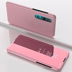 Xiaomi Mi 10用手帳型 レザーケース スタンド 鏡面 カバー L04 Xiaomi ローズゴールド