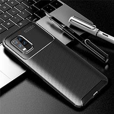 Xiaomi Mi 10 Lite用シリコンケース ソフトタッチラバー ツイル カバー Xiaomi ブラック