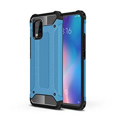 Xiaomi Mi 10 Lite用ハイブリットバンパーケース プラスチック 兼シリコーン カバー Xiaomi ブルー
