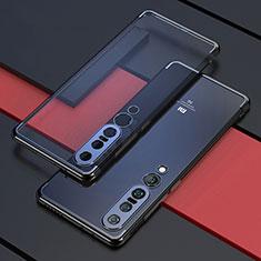 Xiaomi Mi 10 Pro用極薄ソフトケース シリコンケース 耐衝撃 全面保護 クリア透明 S03 Xiaomi ブラック