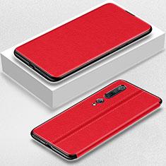 Xiaomi Mi 10 Pro用手帳型 レザーケース スタンド カバー Xiaomi レッド