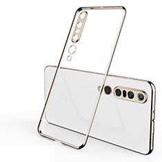 Xiaomi Mi 10 Pro用極薄ソフトケース シリコンケース 耐衝撃 全面保護 クリア透明 H02 Xiaomi ゴールド