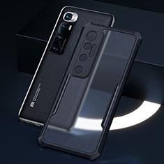 Xiaomi Mi 10 Ultra用ハイブリットバンパーケース クリア透明 プラスチック 鏡面 カバー M01 Xiaomi ブラック