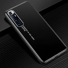 Xiaomi Mi 10 Ultra用ケース 高級感 手触り良い アルミメタル 製の金属製 カバー Xiaomi ブラック